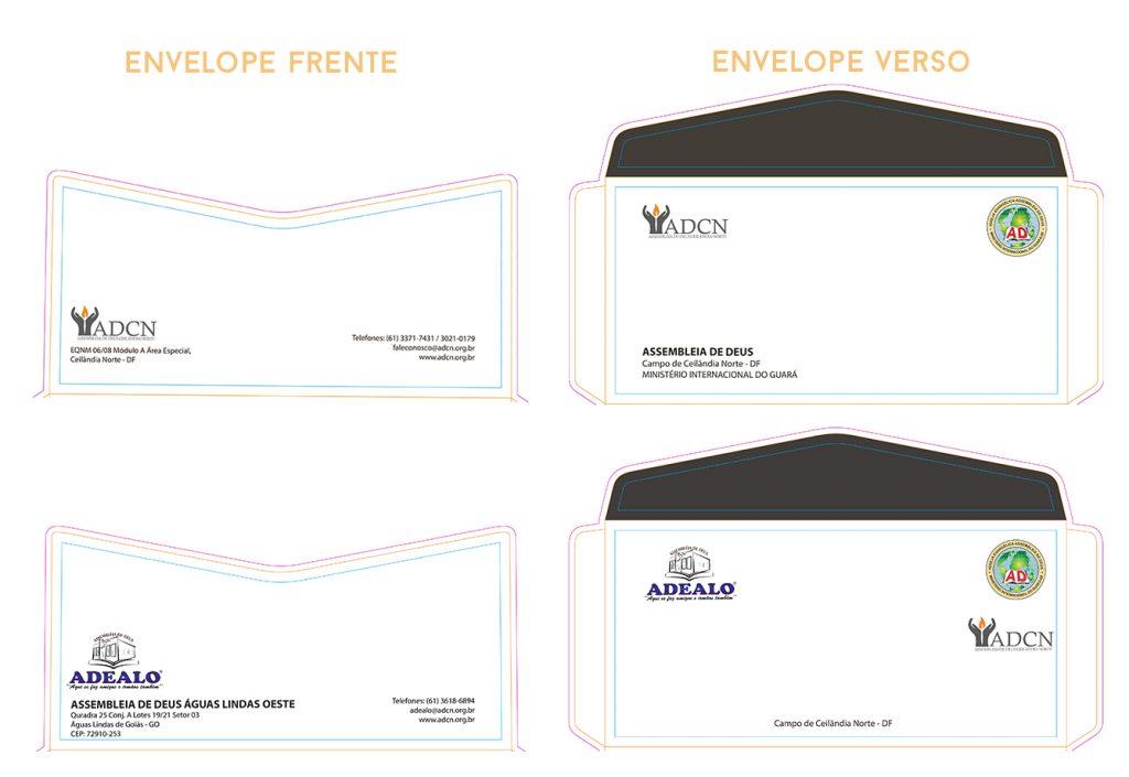 Envelopes oficiais ADCN e Sedes Locais