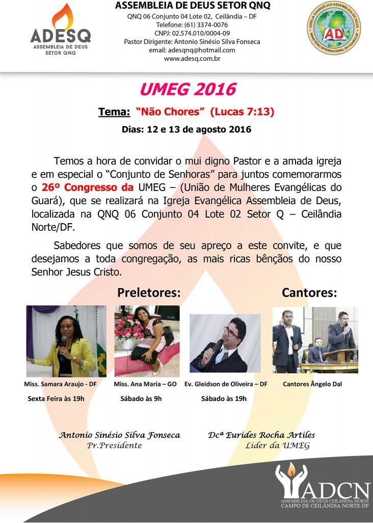 Convite ADESQ UMEG