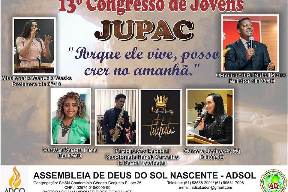 Sábado tem Congresso de Jovens na Congregação do Condomínio Gênesis