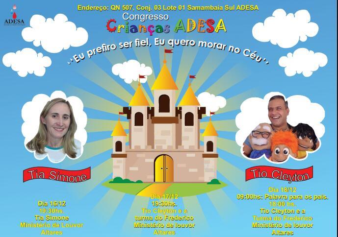 ADESA promove Congresso de Crianças