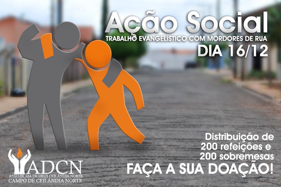 Igreja promove Ação Social com moradores de rua