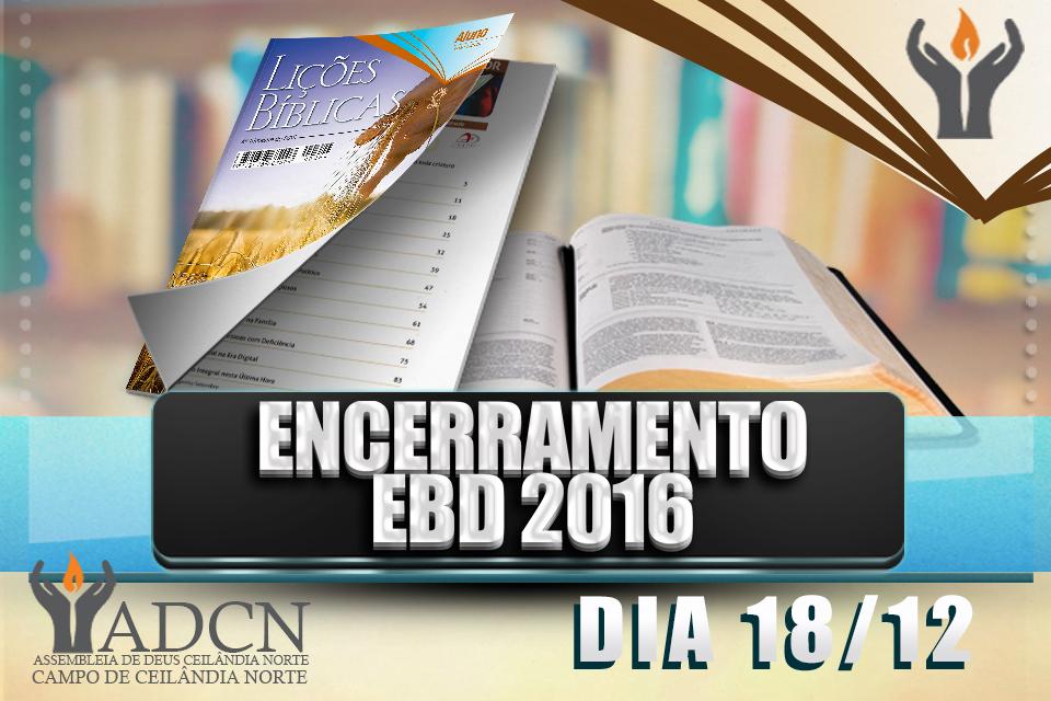 Encerramento da EBD 2016