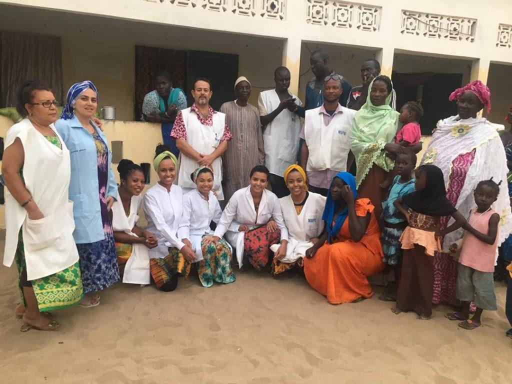 Equipe da Missão sem Fronteiras - Senegal