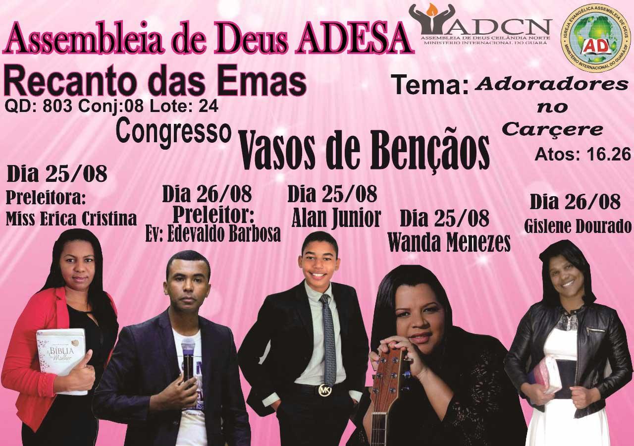 ADESA Recanto - congresso Vasos de Bênçãos