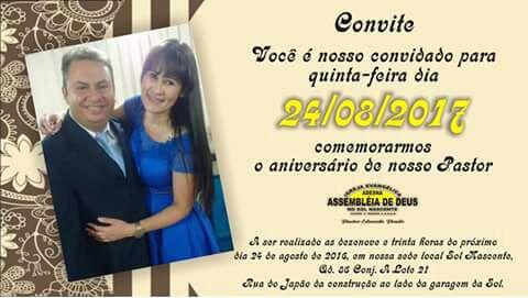 Aniversário Do Pastor Eduardo Prado Adcn Assembleia De Deus