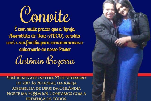 Culto De Aniversário Pastor Antônio Bezerra Adcn Assembleia De