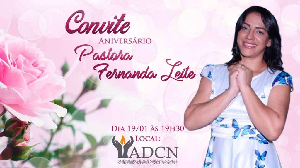 Adcn Celebra O Aniversário Da Pastora Fernanda Leite Adcn