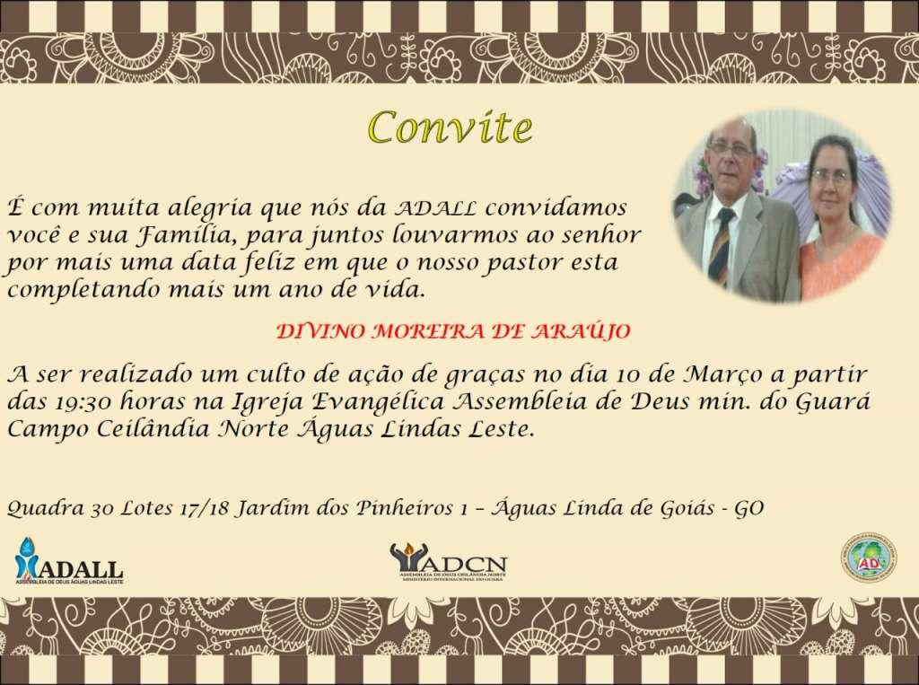 Adall Celebra O Aniversário Do Pastor Divino Moreira Adcn